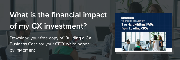 InMoment : The Case for CX Investment White Paper