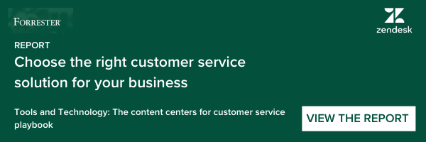 Forrester Report: Choosing the right CX solution for your business - Partnered content with Zendesk